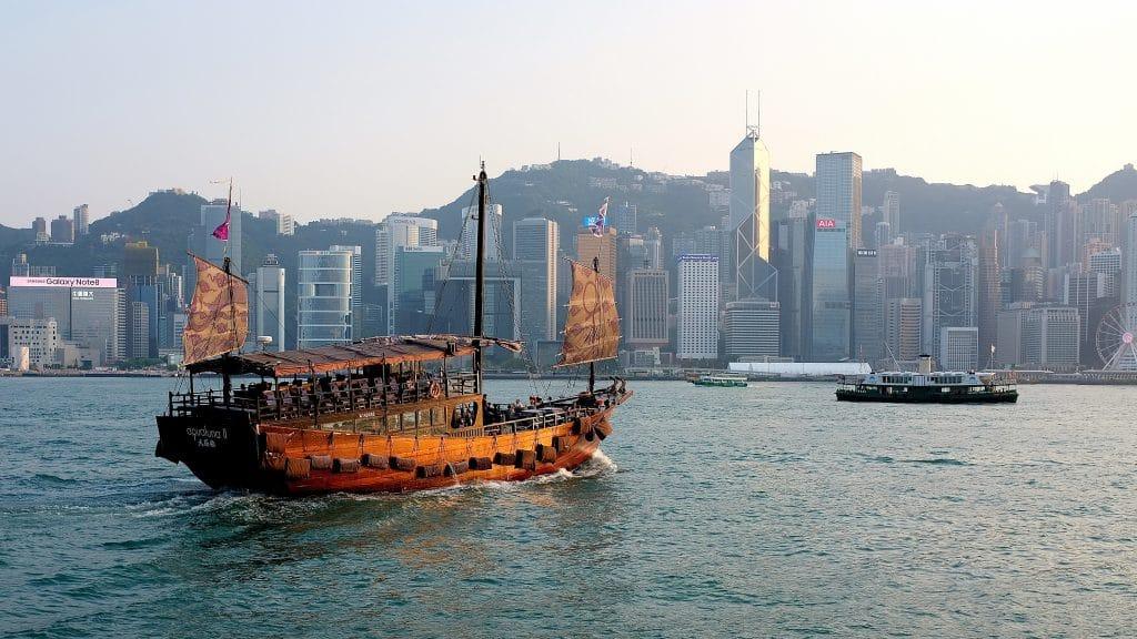 Hong Kong bay and city