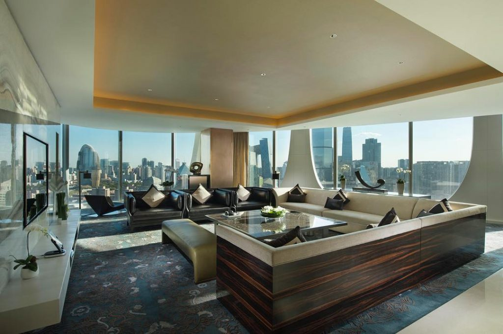 presidential suite at conrad beijing hotel china