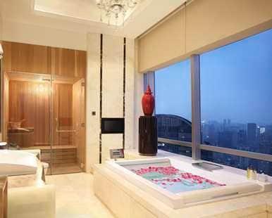 doubletree hilton guangzhou presidential suite bathroom