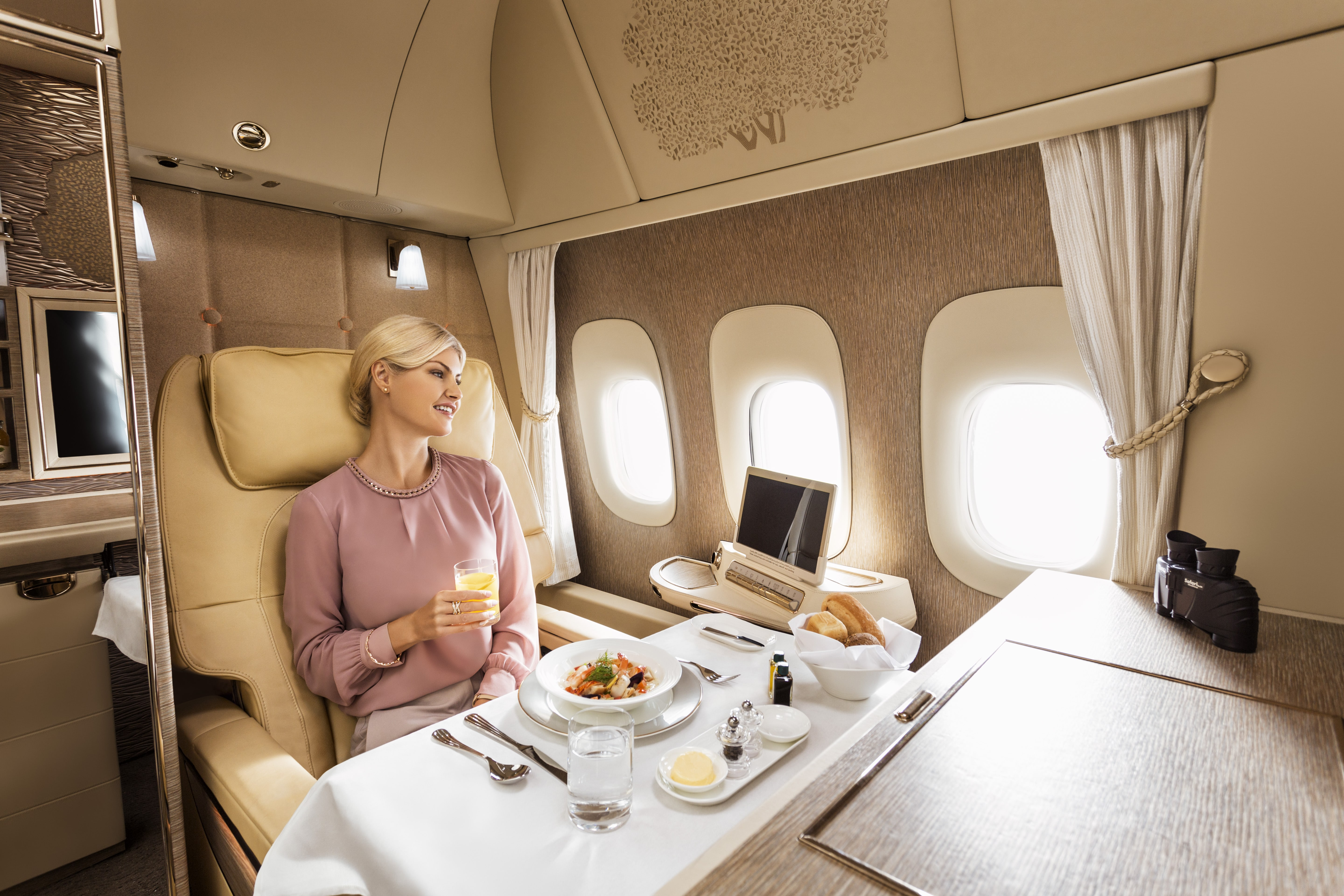 Emirates luxury first class suite boeing 777