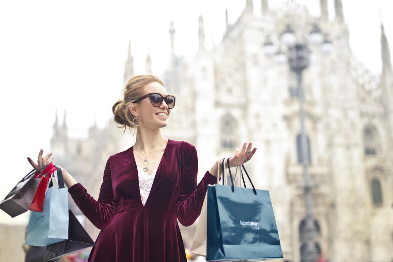 Woman fashion shopping bag Milano